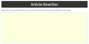 Rewriting Web Contents: What Should be in the Rewritten Article?